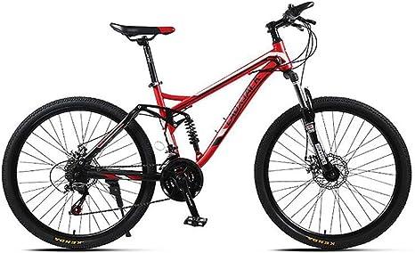 JAEJLQY Bicicleta Montaña 21/24/27 velocidades Frenos de Disco Fat ...