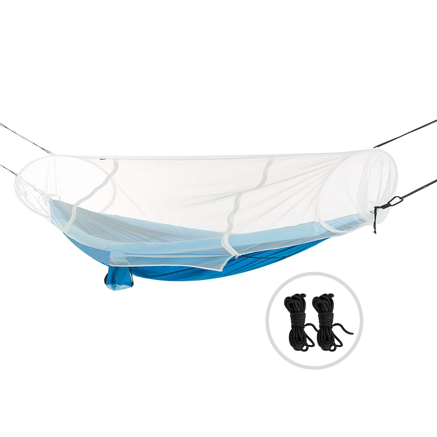 REDCAMP POP UP Hammock Mosquito Net with Zipper, Fast Easy Setup. Compact Hammock Bug Net Fits Single/Double Camping Hammocks, White by REDCAMP