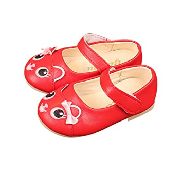 Familizo_Baby Shoes Sandalias de vestir para niña negro rosso 23
