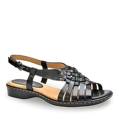 7b9661ab1af5 Image Unavailable. Image not available for. Color  softspots Women s Harper Huarache  Sandals Black