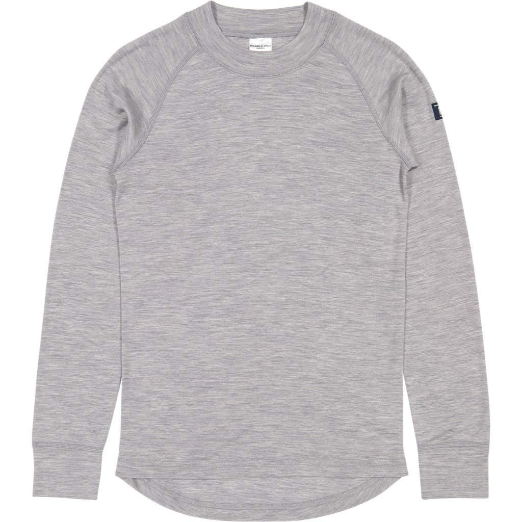 Polarn O. Pyret Merino Wool TOP (6-12YRS) - Grey Melange/6-8 Years by Polarn O. Pyret