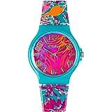 Teenie-Weenie Chic-Watches -Fleurs sauvages - montres pour femmes et enfants avec bracelet en plastique - UC016