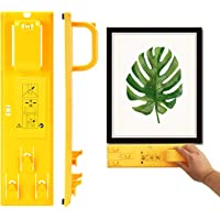 Picture Frame Hanging Kit, Portable Picture Frame Level Ruler, Multifunction Picture Frame Hanger Tool Ruler Bubble…