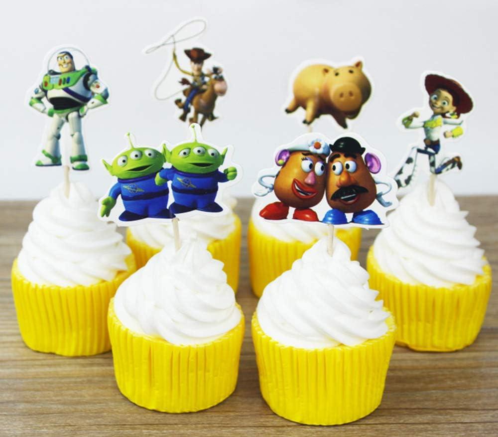 24 Pcs Children/'s Buzz Light Year Cupcake Topper SUP34002B