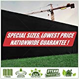 ColourTree Customized Size' Fence Screen Privacy Screen Black - Commercial Grade 170 GSM - Heavy Duty - 3 Years Warranty (1, 4' x 75')