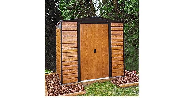 Arrow metal de dispositivo Casa Frankfurt ED 65 Jardín Casa Caseta 2, 66 m² imitación de madera: Amazon.es: Jardín