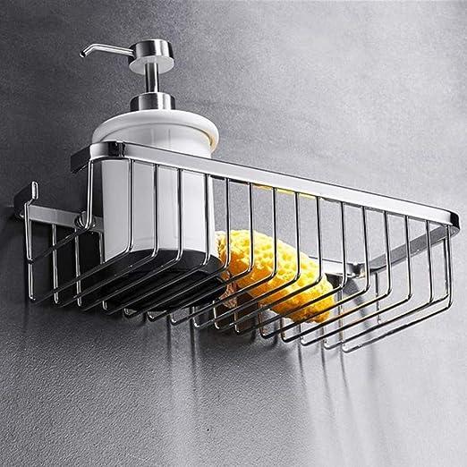 Stainless Steel Wall Rack Storage Kitchen Holder Bathroom Storage Shelf Basket