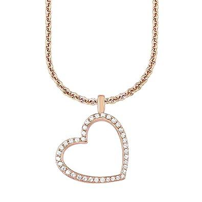 courir chaussures plutôt sympa meilleure vente s. Oliver - Collier avec pendentif coeur argent 925 - Oxyde ...