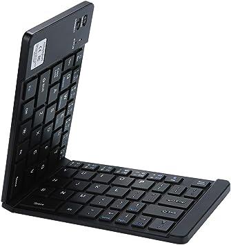 OVINEE Teclado inalámbrico Plegable BT,Teclado Bluetooth,Teclado inalámbrico español, Panel táctil, Compatible con Android, Windows, iOS, teléfono ...