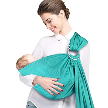 Amazon Com Accmor Ring Sling Baby Carrier Breathable Baby Carrier