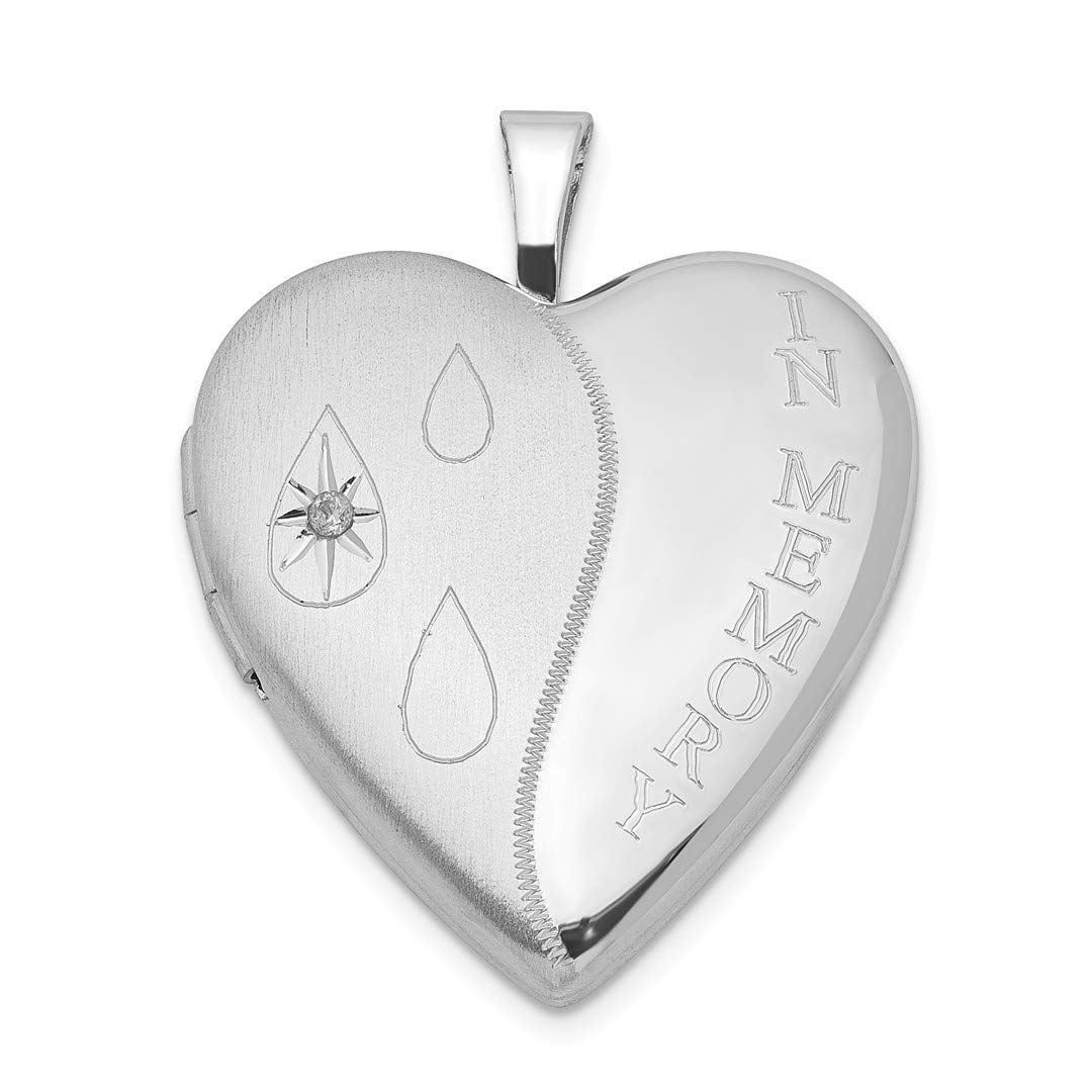 ICE CARATS 925 Sterling Silver Diamondpolish In Memory Heart Photo Pendant Charm Locket Chain Necklace That Holds Pictures Fine Jewelry Ideal Gifts For Women Gift Set From Heart