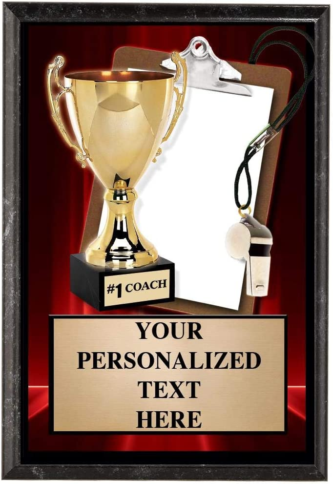 Crown Awards Basketball Plaques 5 x 7 Show Stopper Basketball Court Trophy Plaque with Custom Engraving Prime