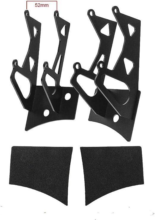 15/accessoires auto dangle inf/érieur /à charni/ères 1 paire Double support de fixation sur montant de lampe de travail /à DEL pour pare-brise en acier support pour Wrangler JK 07