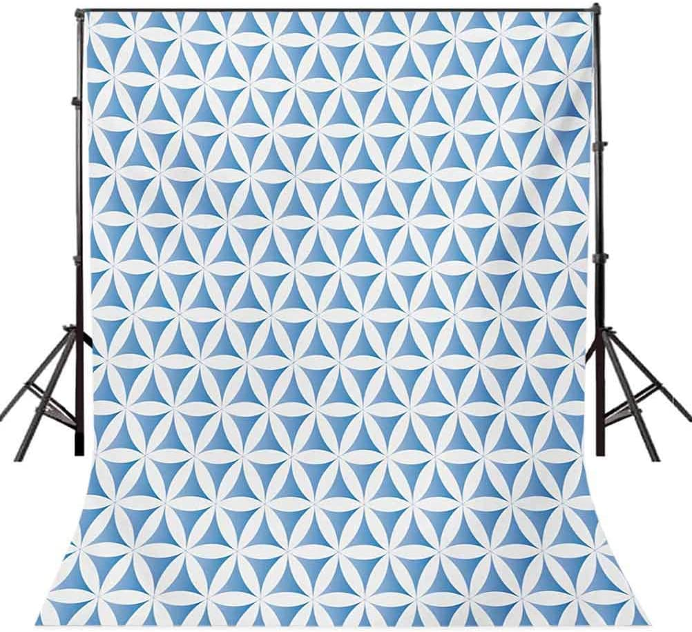 Quatrefoil 8x10 FT Photography Backdrop Far Style Girih Tiles Pattern in Clover Figures Moroccan Star Print Background for Baby Shower Birthday Wedding Bridal Shower Party Decoration Photo Studio