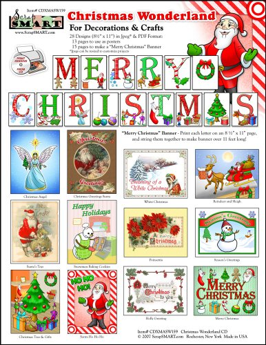 ScrapSMART - Christmas Wonderland Software - for Crafts, Cards, Sewing and Quilting - Jpeg and PDF Files for Mac [Download] (Pdf Crafts Christmas)