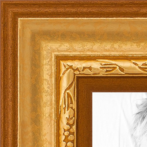 ArtToFrames 24x24 inch Gold Speckeled Wood Picture Frame,...
