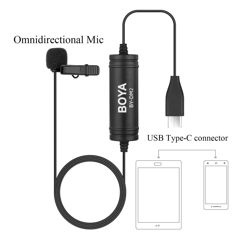 Amazoncom Usb C Microphone For Android Smartphones 2366m Boya
