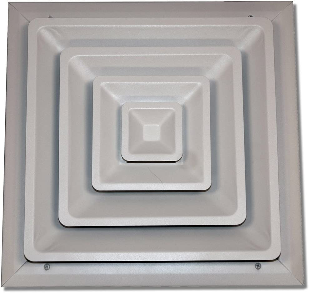 Speedi-Grille SG-1616 FCR 16-Inch by 16-Inch White Ceiling Register with Fixed Cone Diffuser Applied Applications International
