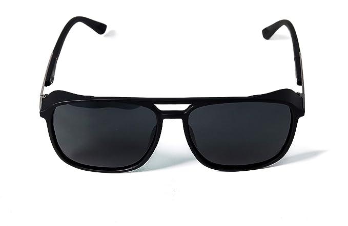 de2cc93ac4098 New Creation UV Protected Polarized Black Wayfarer Men s Sunglasses (Bridge  between the lenses)