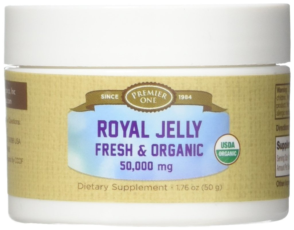 Premier One Royal Jelly, Fresh & Organic, Natural, Pink, 1.76 Ounce