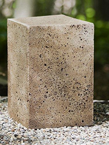 Medium Art Pedestal (Campania International PD-167-GS Art Pedestal, Medium, Grey Stone Finish)