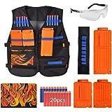 Yosoo Kids Elite Tacticals Vest with 20 Pcs Soft Foam Darts for Nerfs Gun N-Strike Elite Series (2)