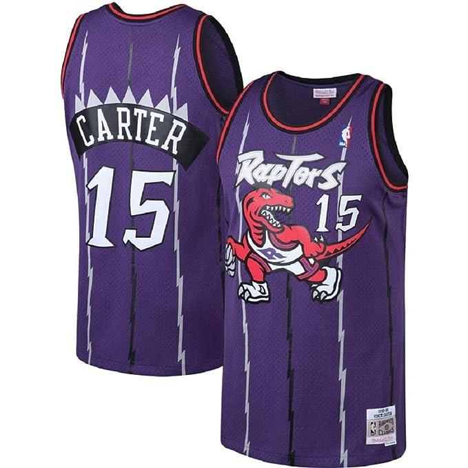 new concept d68f9 2c121 Vince Carter Toronto Raptors #15 Purple Hardwood Classics Jersey