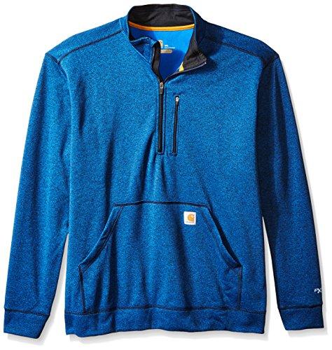 nd Tall Force Extremes Mock-Neck Half-Zip Sweatshirt, Huron Heather, 3X-Large (Carhartt Chest Pocket Sweatshirt)