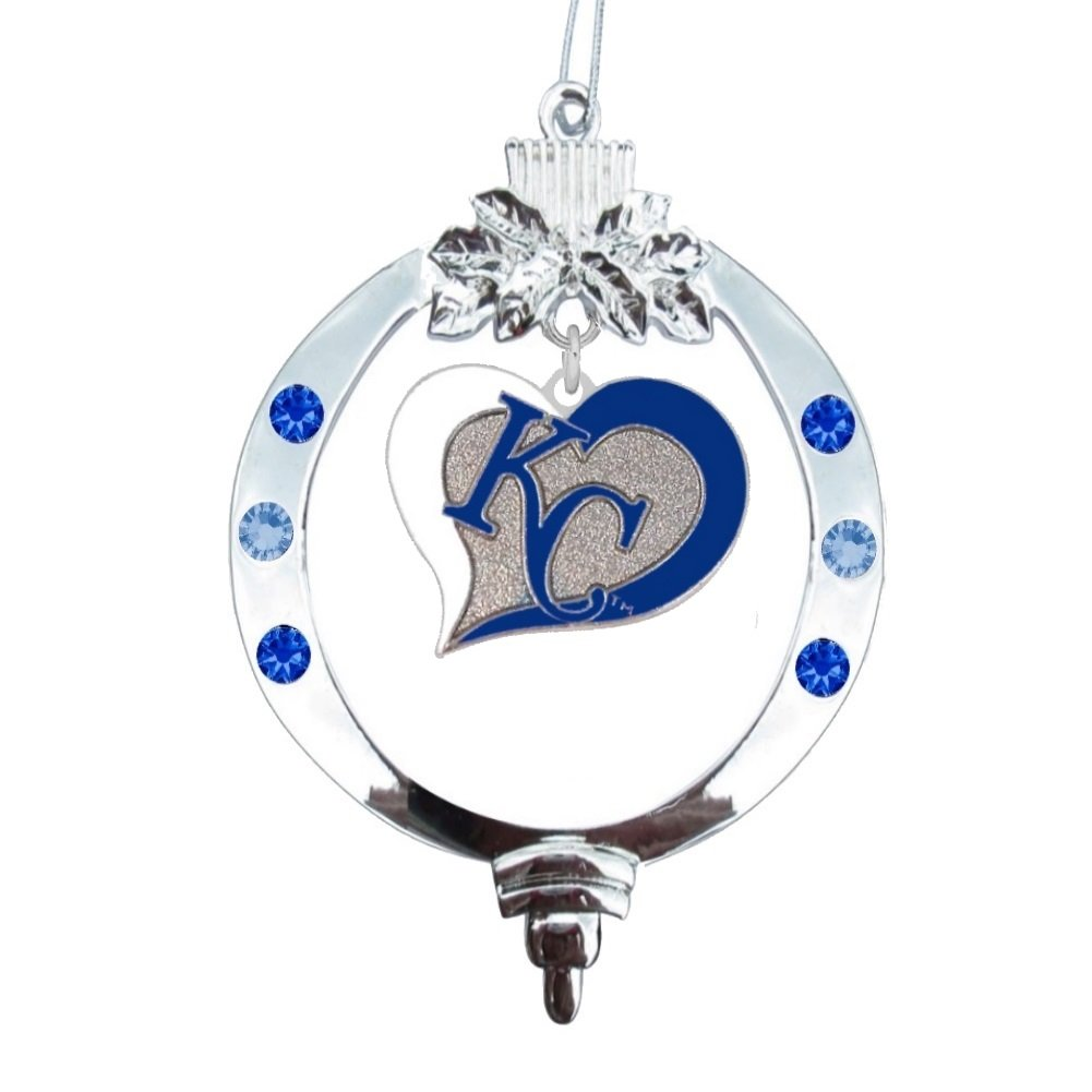 Amazon.com : Kansas City Royals Swirl Heart Christmas Ornament ...