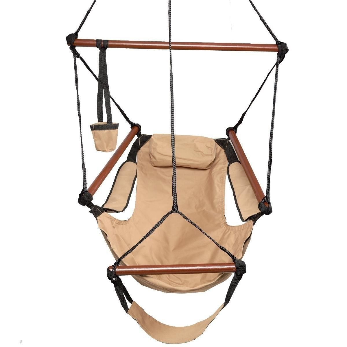 Xnonix Hammock Hanging Chair Air Deluxe Outdoor Chair Solid Wood 250lb