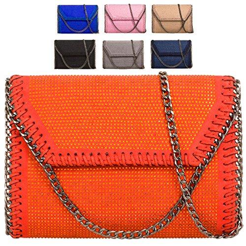 Grey Handbag Edge Women's Purse Bag Chain Gem Evening Ladies Clutch Party Envelope KL718 OZ7aOq1