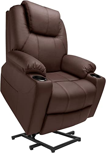 Furgle Power Lift Recliner Chair Faux Leather Electric