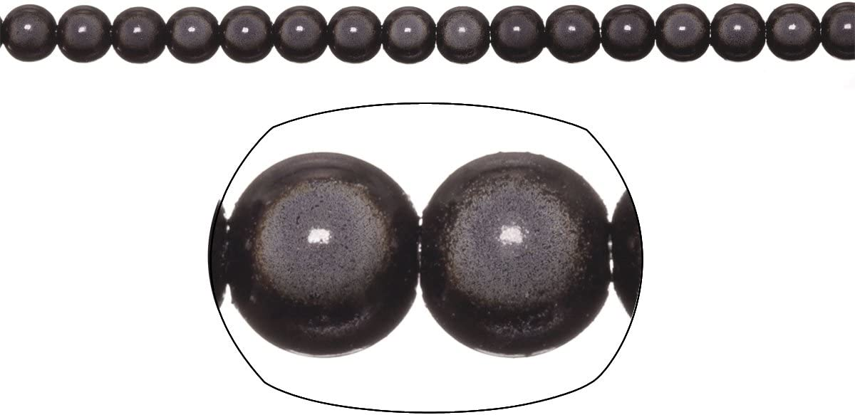Miracle Beads, 6mm Round, Black