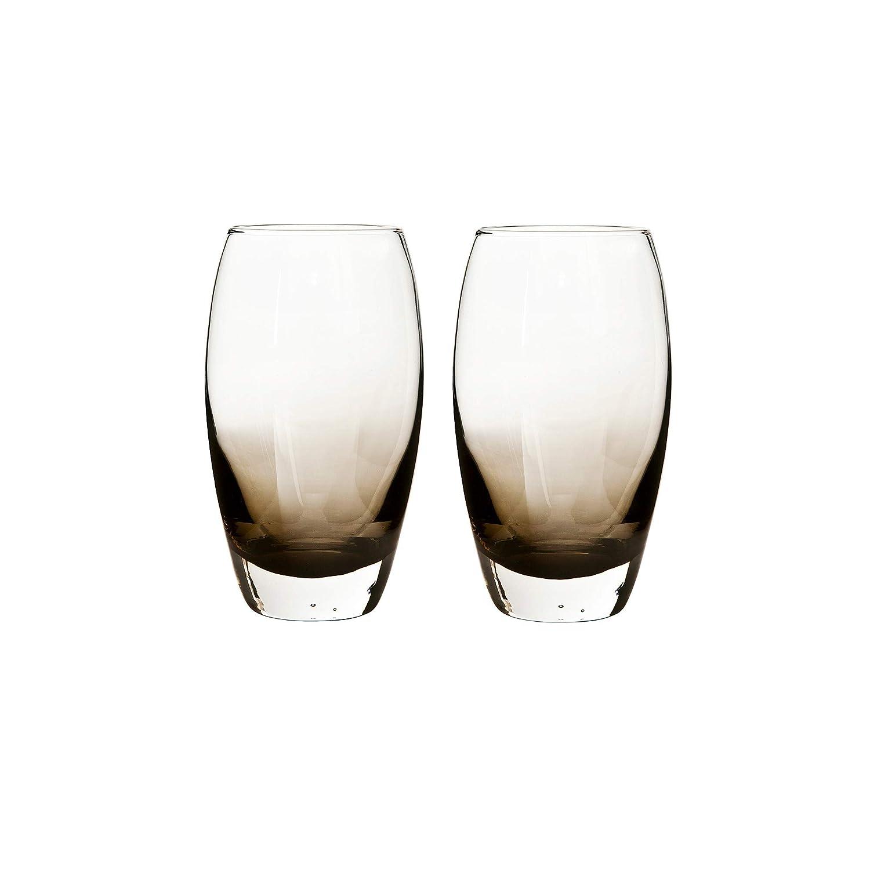 Pack of 2 Denby 0.55 Litre Large Glass Halo//Praline Large Tumbler