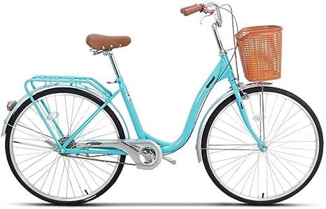 Rabbfay Bicicleta Plegable Bicicleta Unisex De 26 Pulgadas, Una Sola Velocidad Bicicleta Portátil Moda Hermosa Ciudad De Bicicletas 132 * 22 * 80Cm,B: Amazon.es: Deportes y aire libre