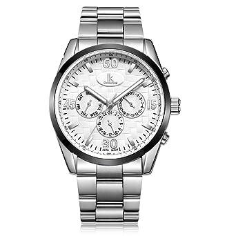 Multi-funcional automáticos relojes mecánicos/[reloj doble del calendario]/De los hombres impermeable reloj y día y la fecha-B: Amazon.es: Relojes