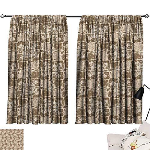 Hariiuet Tie Up Printed Blackout Curtain Seamless Wallpaper pattern1113 54