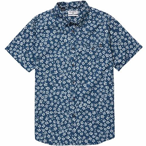 (Billabong Men's Sunday Mini Short Sleeve Shirt, Navy, XL)