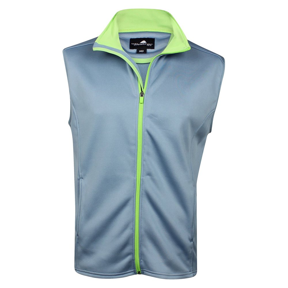The Weather Company Mens Poly-Flex Full Zip Vest Blue Grey S