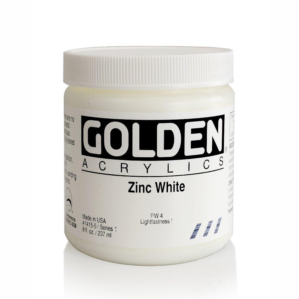 el más barato Zincblanco oroen pesado cuerpo acrílico pintura 8 8 8 oz.  gran venta