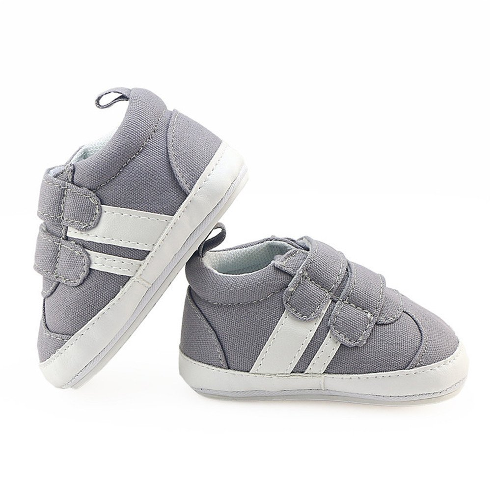 Isbasic Canvas Sneakers Shoes for Baby Boys Girls Toddler Non-Slip Rubber Sole Casual Infant Trainer (6-12 Months, Gray) by Isbasic (Image #7)