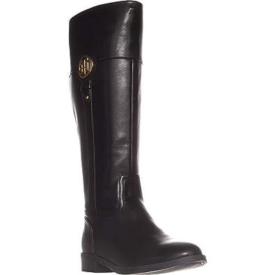 0fd8de9e57c Image Unavailable. Image not available for. Color  Tommy Hilfiger Ilia2  Wide Calf Riding Boots