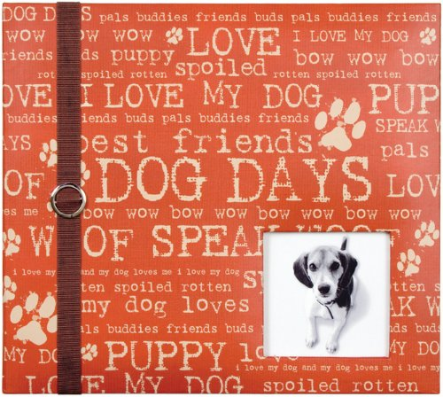 Colorbok 8-Inches x 8-Inches  Postbound Album with Window, Dog (Postbound Pet Album)