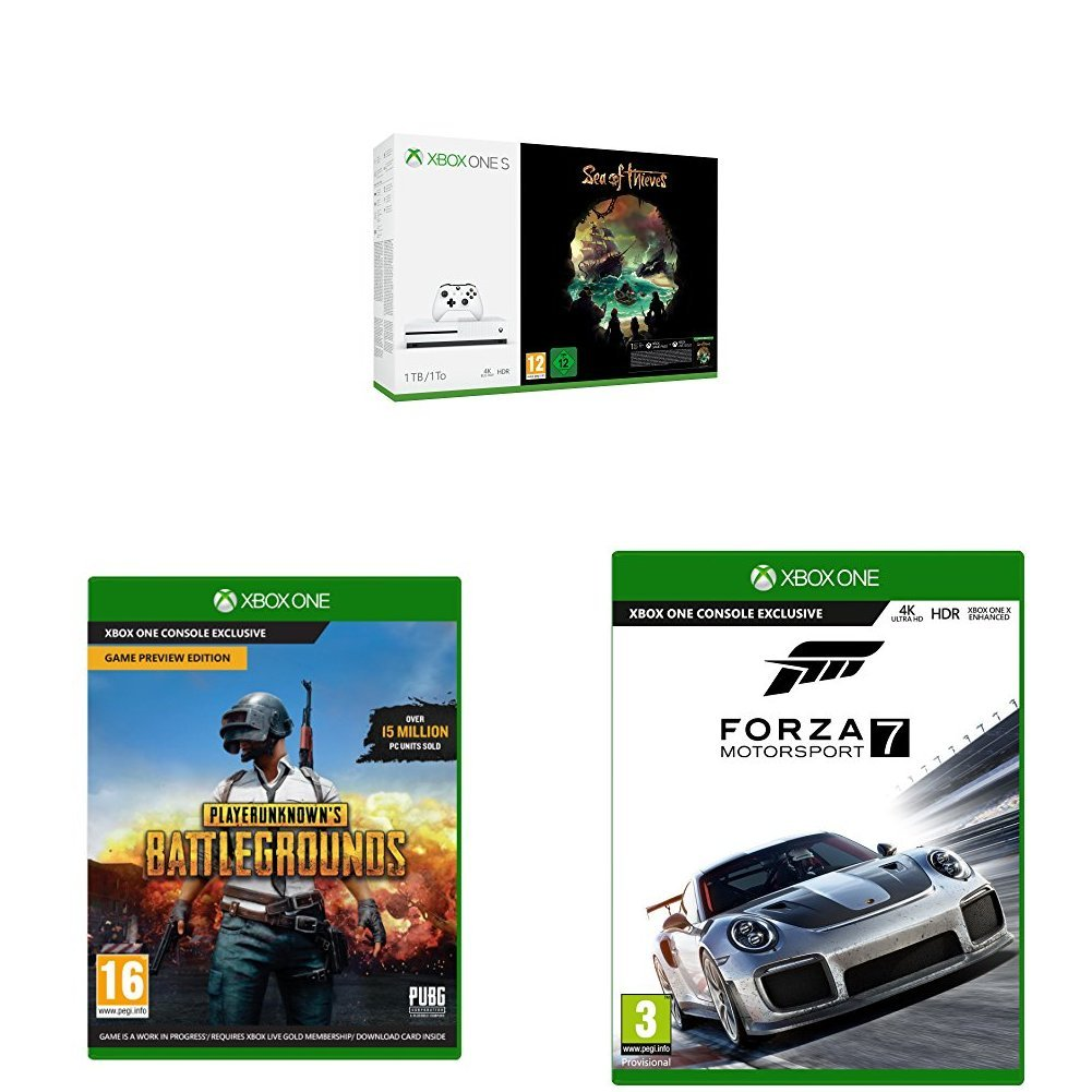 Xbox One S 1TB Sea of Thieves + PUBG + Forza Motorsport 7: Amazon co