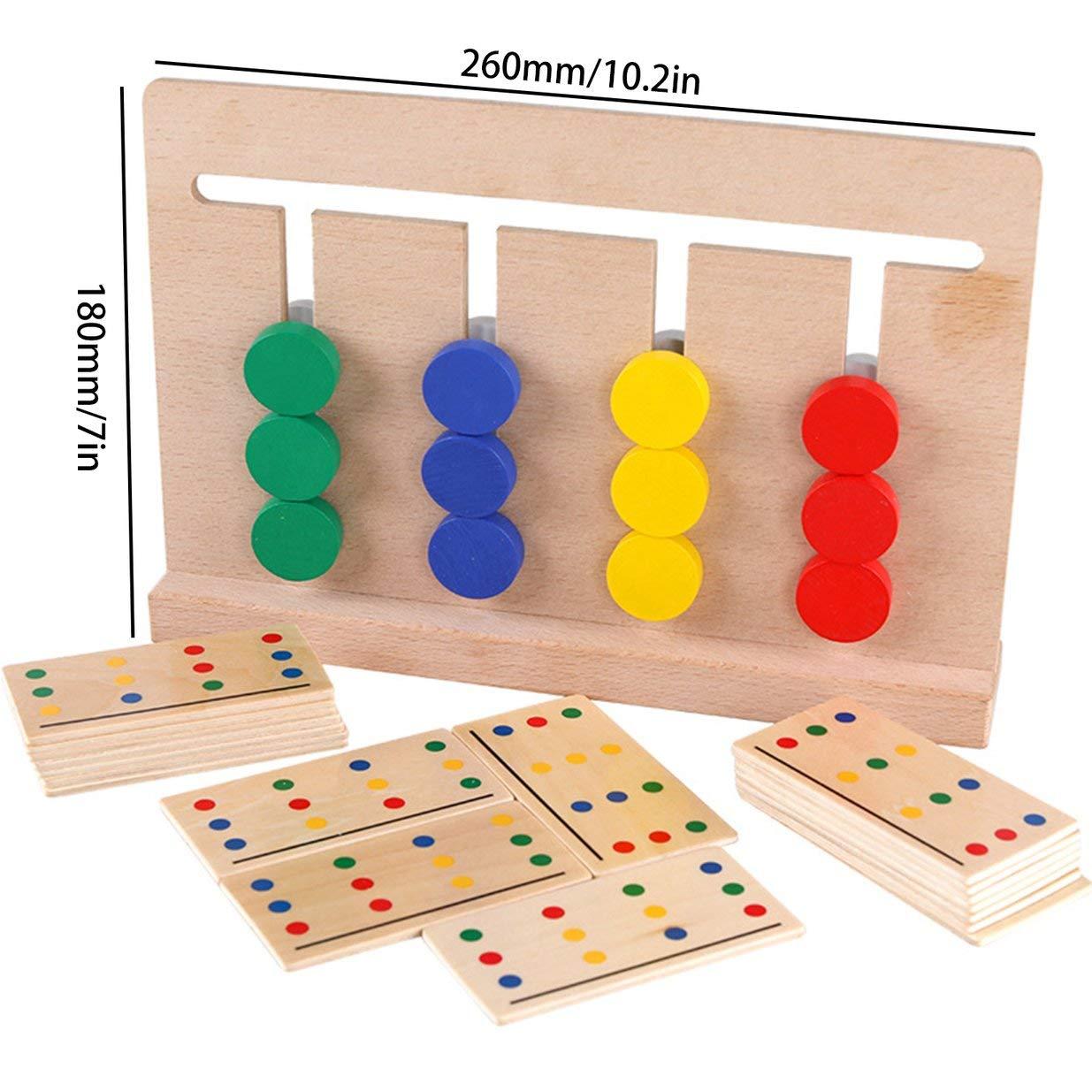 de madera juego de cuatro colores material did/áctico iluminaci/ón juguetes de los ni/ños Montessori Banbie8409 Ayudas de ense/ñanza