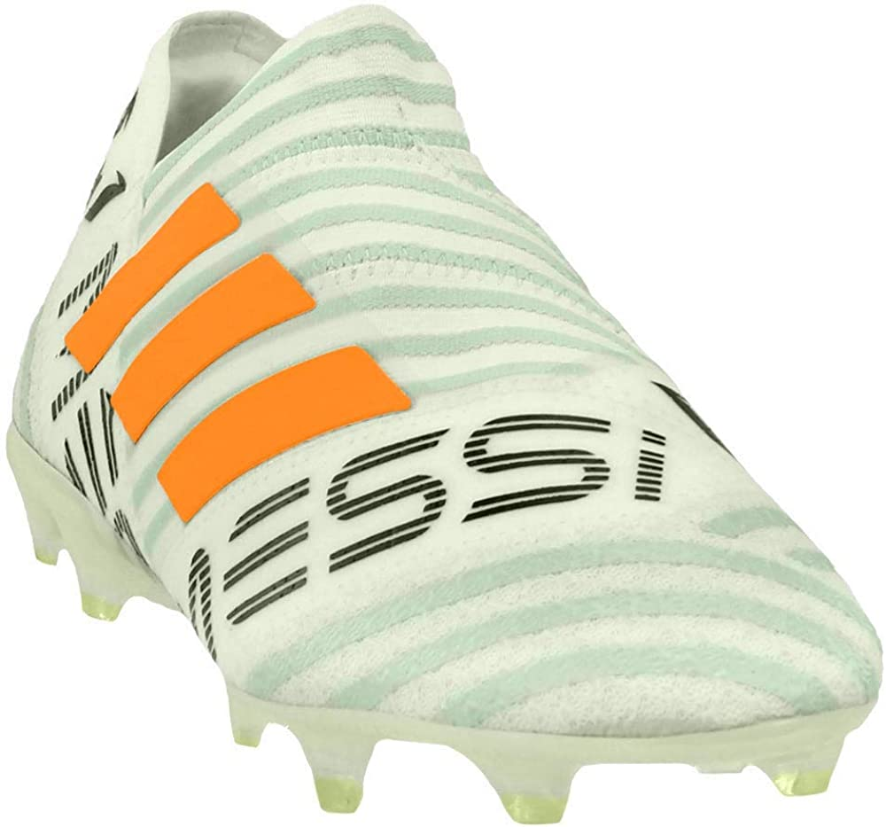 adidas Nemeziz Messi 17+ Men's Firm Ground Soccer Cleats WhiteBlackOrange