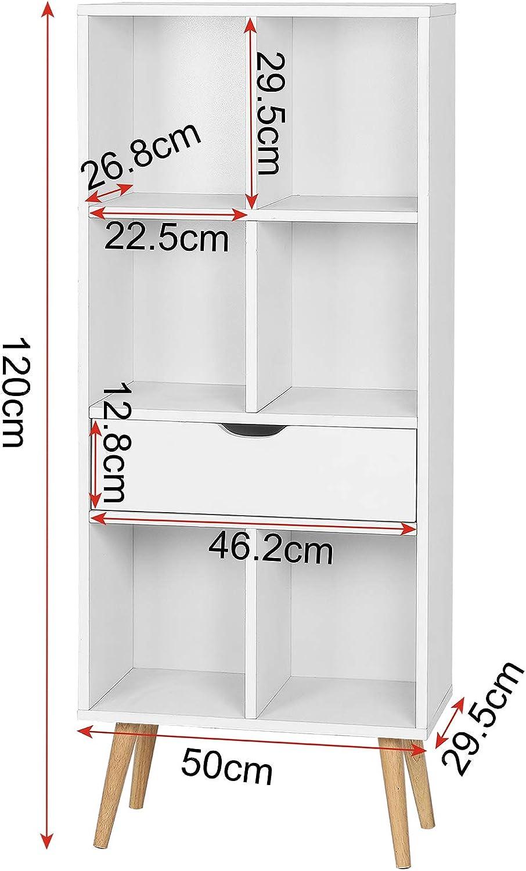 soggiorno ecc LCS006B armadietto libreria libreria armadietto ufficio ANWBROAD Organizzatore a 6 cubi per armadio modulare fai da te armadietto per camera da letto in plastica libreria