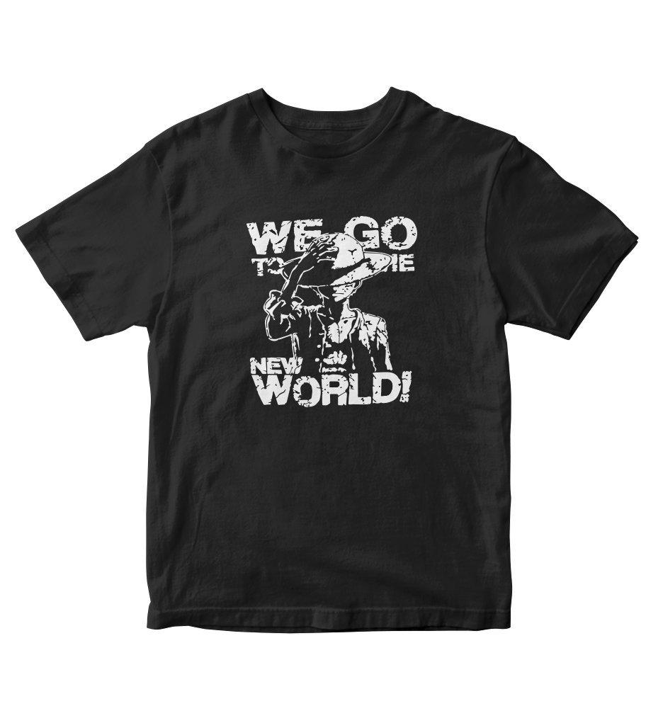 Tjsports One Piece Anime Luffy We Go To The New World T Shirt Anime Manga A137