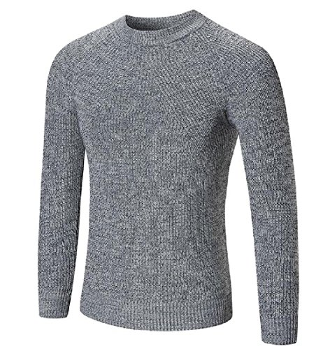 Discount Comfy Men's Round Neck Fashionable Stretch Sweaters Fitted Jersey free shipping