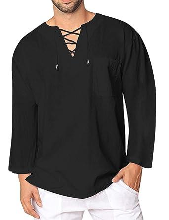 4809e89b1 COOFANDY Mens Fashion T Shirt Cotton Tee Hippie Shirts Short Sleeve Beach  Yoga Top   Amazon.com